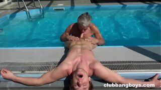 Grandpa Eats Twinks Ass and Cum off his chest