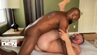 Muscle Bottom's Ass Gets Wrecked, Raw Bred by Cutler X's Uncut Monster Cock